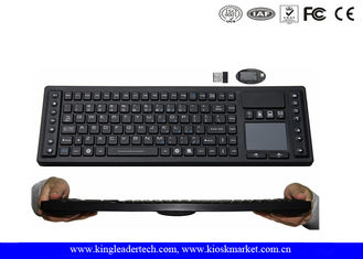 Waterproof 2.4GHz Wireless Keyboard with Function Keys , Layout Customized